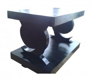 Table basse noire en carton - Meubles en carton Cartsandra B