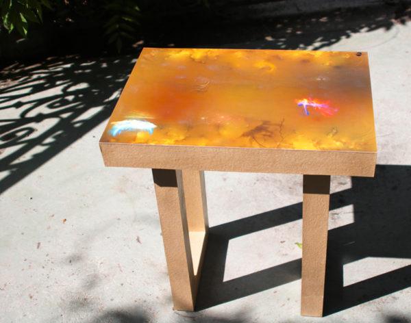 Table basse peinture numérique cartsandra b